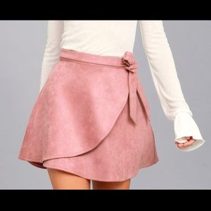 Lulus Wrap Suede skirt size Medium